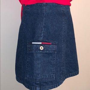 Vintage Like New Tommy Hilfiger Zip Jean Miniskirt